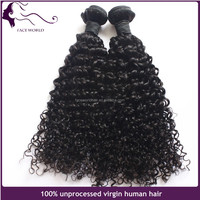 Golden perfect peruvian virgin hair cut from young girl jerry curl braiding hair no chemical remy virgin hair