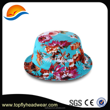 Custom Tie dyed cotton bucket hat ,Cotton Floral bucket hat wholesale.
