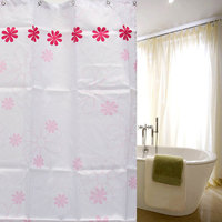 Best Promotion!! 3 Size Peach Blossom Flowers Waterproof Waterproof Bathroom Bath Shower Curtain Polyester With Hooks