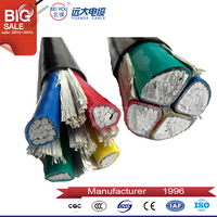 PVC Insulation Material and Low Voltage Type armoured cable with rated voltage 3.6 / 6KV