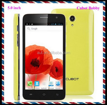 Original brand dual sim Cubot Bobby phone 5.0 inch MTK6572 android mobile phone