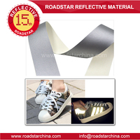 High silver reflective artificial leather for shoes