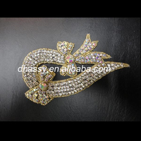 China manufacturer Dhorse DH-383 garment accessory motif crystal strass Rhinestone applique designs for dress