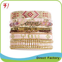Handmade Wrap Embroidery Cotton Friendship Bracelet brazilian Woven Rope String Friendship Bracelets For Women Men