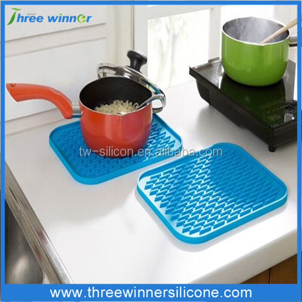 rubber table pot mat silicone anti slip hot pot mat