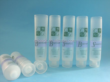 Clear plastic soft cosmetic tube packaging, cosmetic container for hand cream