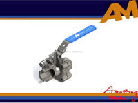 DN15 stainless steel high pressure metal ball valve