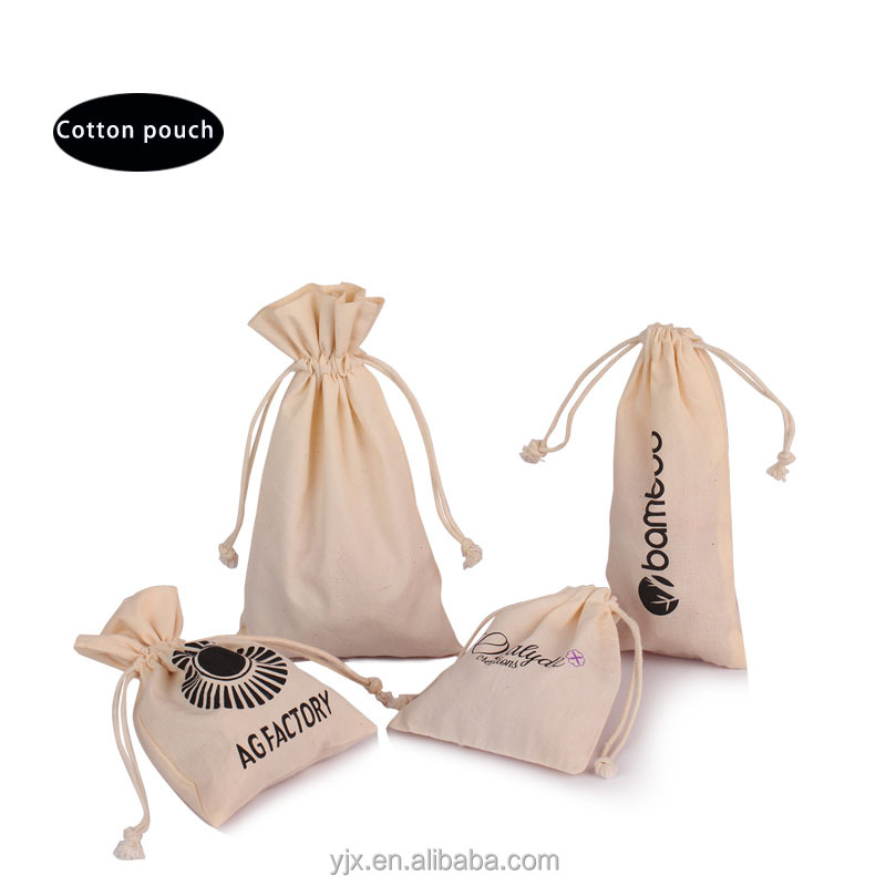 Promotion cotton dust bag with drawstring cotton organic pouch for shoe