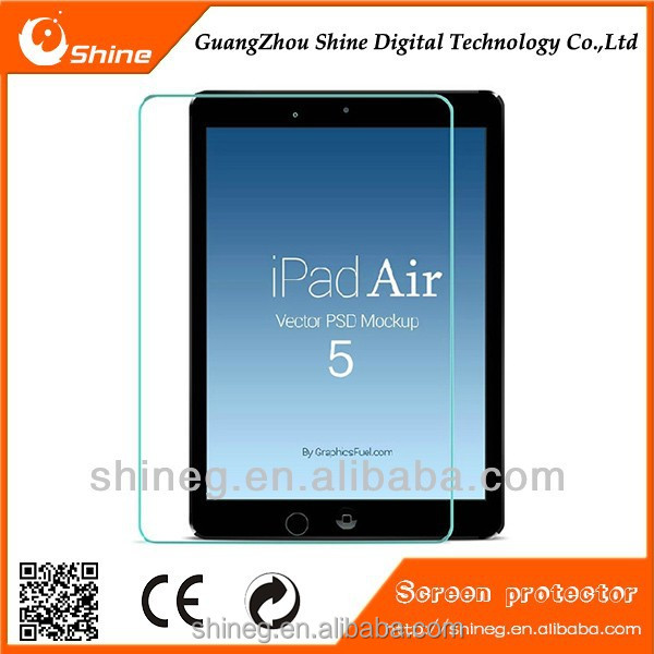 perfect fit HD tempered glass screen protector for Ipad Air with high quality.