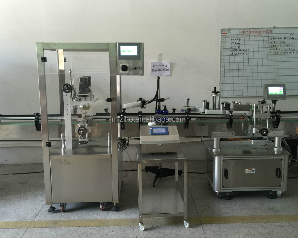 MZH-F4 Nozzles full automatic bottle loading and filling machine