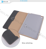 Nice stitching leather tablet case for ipad mini