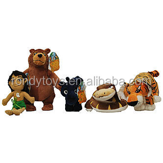 2016 New Design Plush Toys Jungle Animal Family