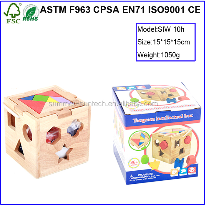 Children toys new Intelligence Wooden Toy wooden geometric shapes intellectual sorting boxes