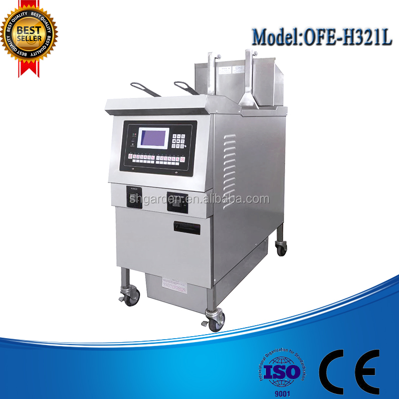 Automatic Fried Chicken Fryer Machine/Deep Fryer/ Open Fryer Computer Control Panel & 10 Memory Functions For Cooking Cycles
