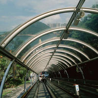 12mm Clear Bent Toughened Building Curved Tempered Glass