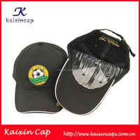 Custom Polyester/faux leather Perforated Baseball Cap