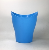 Colorful waste bin with handle