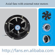 AC 200mm External Rotor Motor With Axial Fan cylinder duct fan