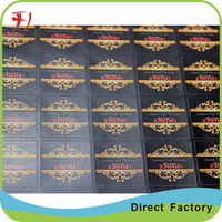 Custom Waterproof Cricket Bat Stickers , Clear Gold Stamping Sticker