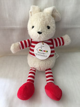 2016 new baby soft toy stripped bunny plush toy and knitted