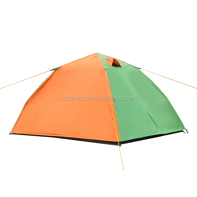 Aluminium pole double outdoor automatic camping tent high quality cheap price fiberglass pole waterproof outdoor camping tent