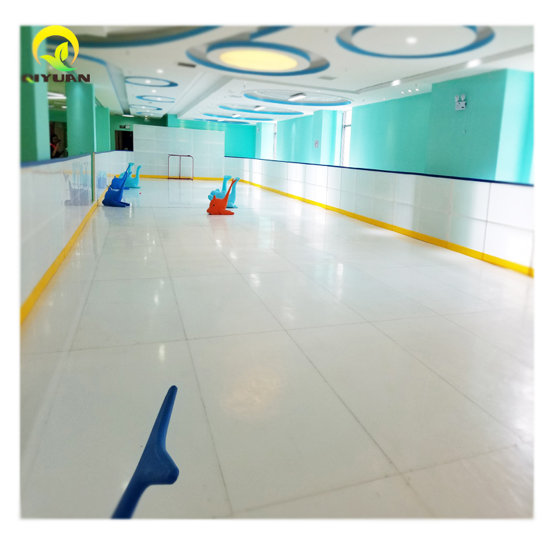 Synthetic ice rink of super glide UHMWPE plastic skating pad