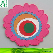 round shape silicone coaster silicone rubber cup mat promotional gift rubber table mat