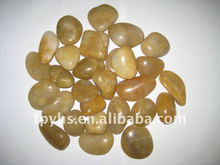 natural stone material cobble and pebble type yellow river stone