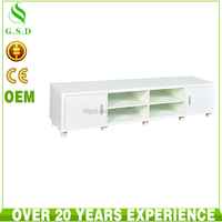 wholesale high quality white wooden tv unit design furniture