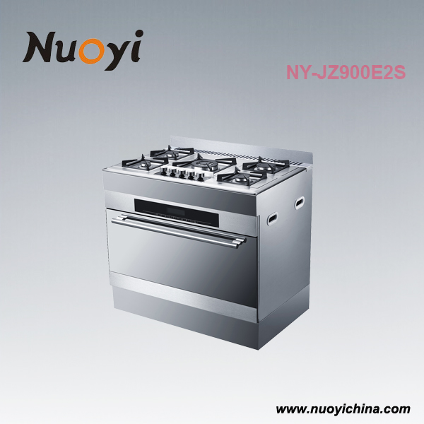 NY-JZ900E2S fashion beauty 5 burner gas cooker with oven easy Operating and working with safety device
