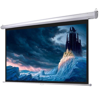 Wall mount non-glare manual screen projector