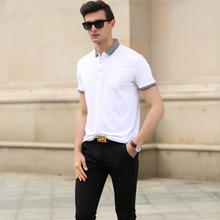 fashion new design solid color men short sleeve polo shirt slim fit
