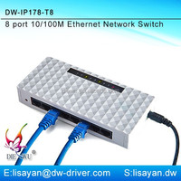 Mini 8 port ethernet switch for home / office network