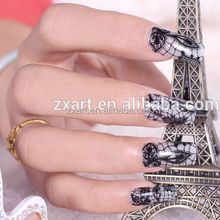 Fashionable resin rhinestones lace nail sticker, stickers nail art,nail decoration