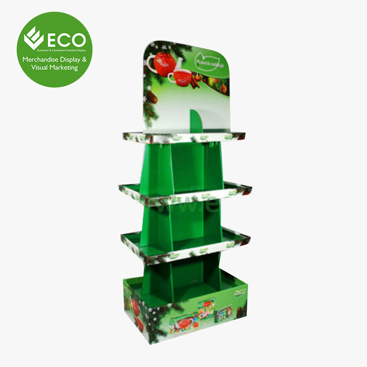 New Design Retail Pallet Display for Tea Display Rack, Tea Cup Display Stand