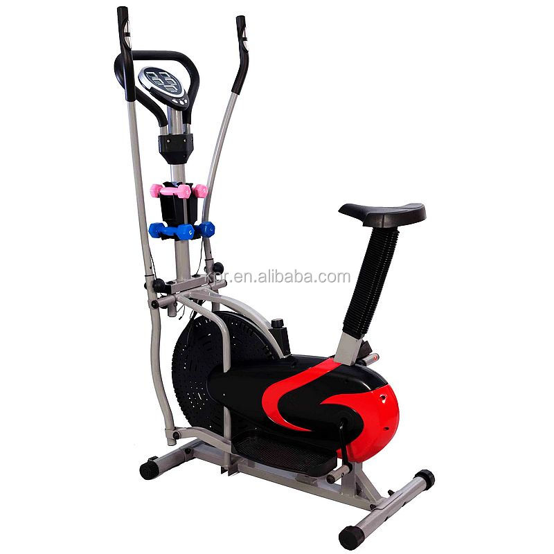 Elliptical orbitrac bike with dumbbell