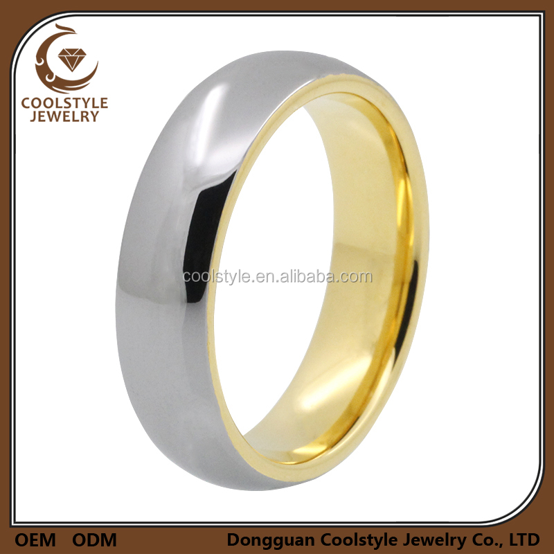 New trendy gold tungsten engagement ring gold rings designs for ladies