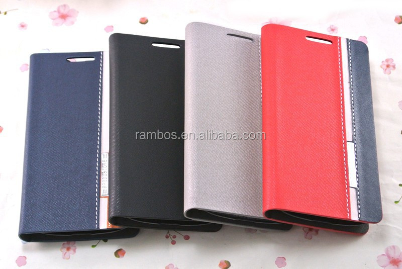 Newest Handy private custom printed flip leather case cover for Samsung I8000