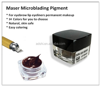 OEM Cream Microblading Pigment For Eyebrow Tattoo Manual Pen