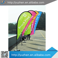 Advertising Polyester printing teardrop beach chair flag pole