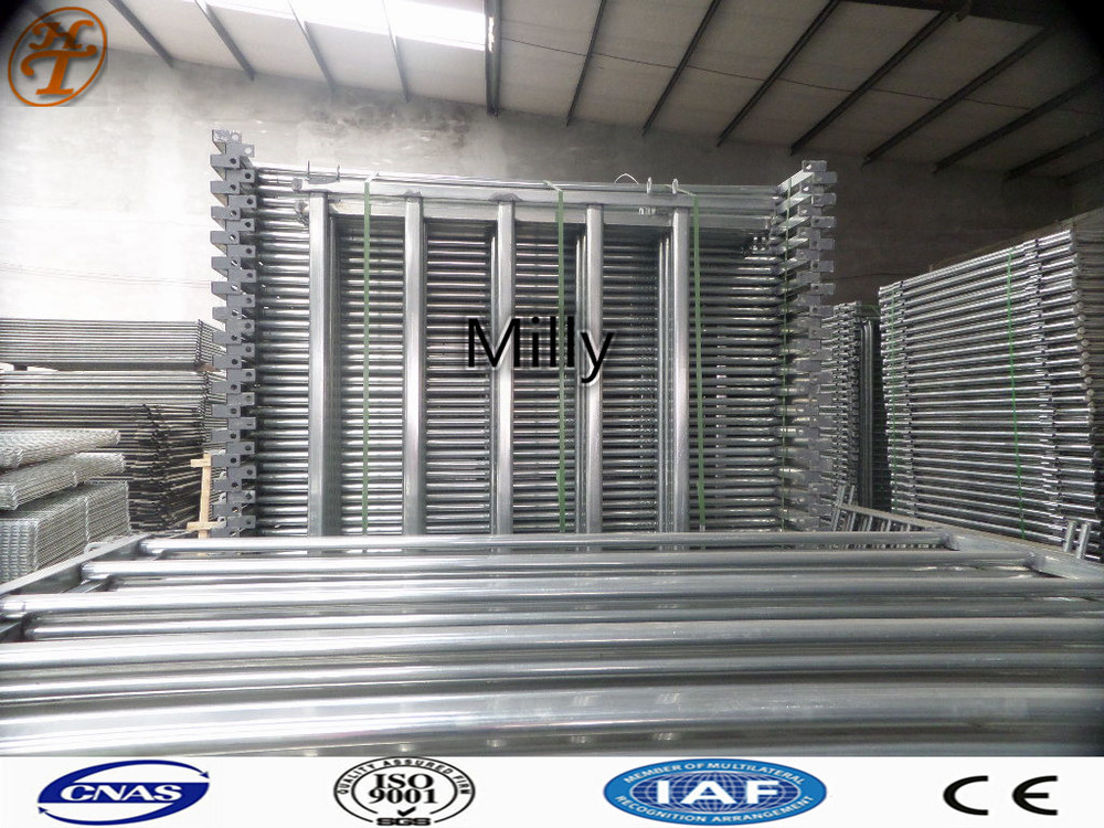 6 Bar Galvanized Utility Round Pen/Good for temporary use Steel Tubing cattle gate panels