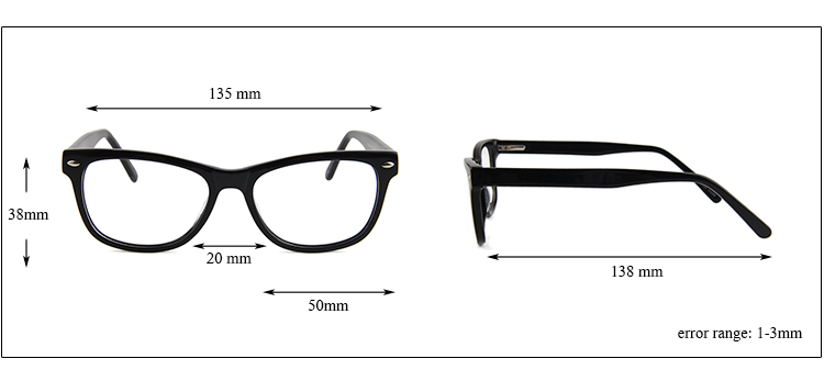 Will Power New Model Acetate Material Optical Glasses Frame