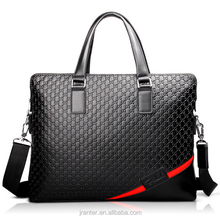 High end business laptop shoulder bag briefcase mens leather handbag