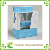 Printed corrugated packaging box with bayonet for men slimming plastic belt PVC box
