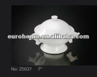 High quality white porcelain/ceramic soup tureen Z0037