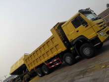 howo 8x4 tipper, longer cab, with sleeper, air- condition, safety belt for sale
