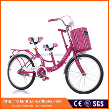 2016 three seat 22 inch mother and baby bicycle