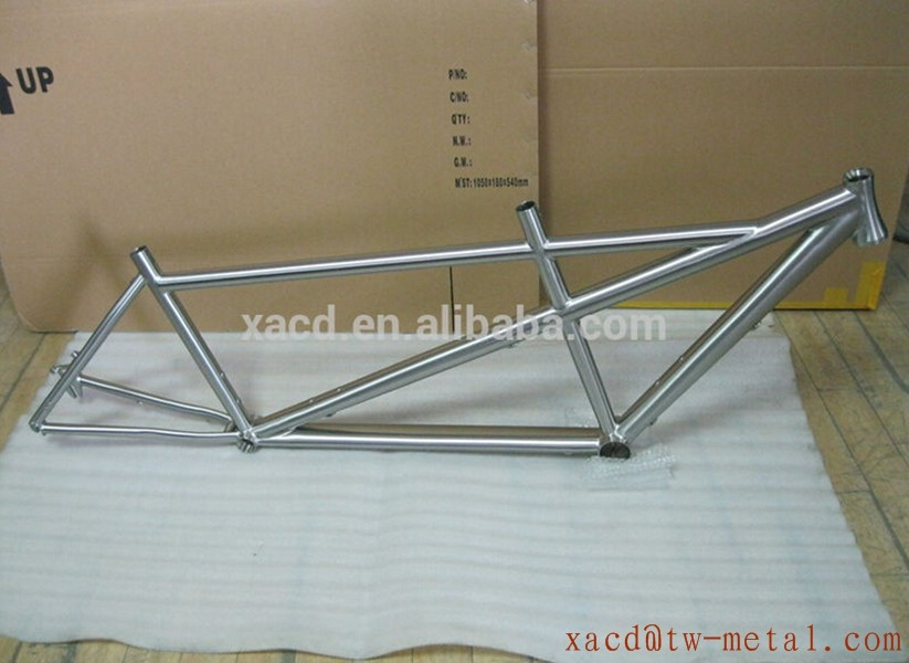 New Design titanium super light tandem bicycle frame with taper head tube titanium tandem bike frame
