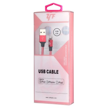 2018 MFi certified cable 2.4A, durable fish-net braided charging data cable for apple iphone 5