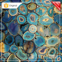 China Wholesale Decoration Stone Wholesale Blue Large Agate Stone Slab